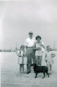 Bradbury's at beach in 1950
