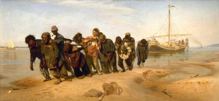 3-24-17 Ilia_Efimovich_Repin_(1844-1930)_-_Volga_Boatmen_(1870-1873)